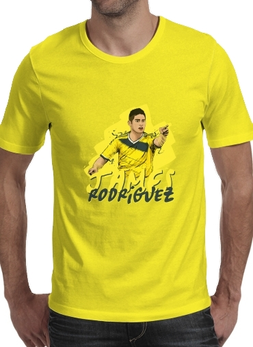sports shoes 2e046 51f9b T-shirt short sleeve round neck Football Stars: James Rodriguez - Colombia  yellow - Men
