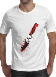 T-shirt short sleeve round neck  Hell-O-Ween Myers knife