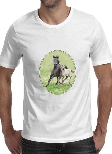 T-Shirts Dülmener Wildpferde, Stute mit Fohlen