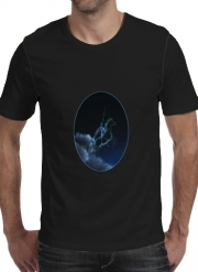 T-shirt short sleeve round neck  Knight in ghostly armor