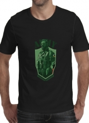 T-shirt short sleeve round neck  MGS Phantom Pain Army Men Big Boss Diamond Dogs