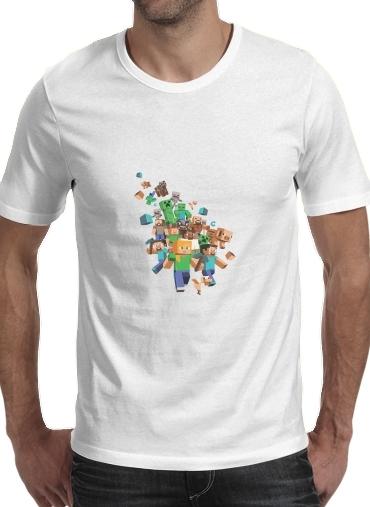 Minecraft Creeper Forest dla Men T-Shirt