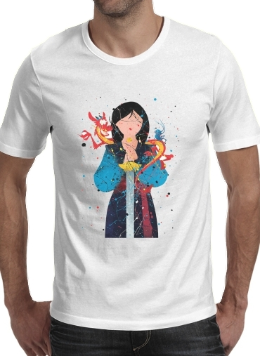 T-Shirts Mulan Princess Watercolor Decor