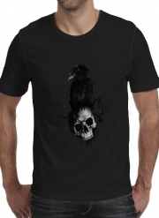 T-shirt short sleeve round neck  Raven and Skull