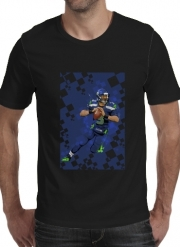 12a05fe2f5351 T-shirt short sleeve round neck Seattle Seahawks  QB 3 - Russell Wilson