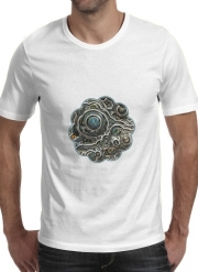 T-shirt short sleeve round neck  Silver glitter bubble cells