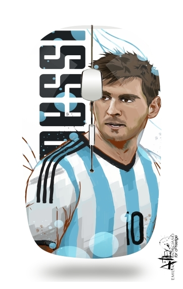Slim Wireless Mouse Football Legends: Lionel Messi World Cup 2014