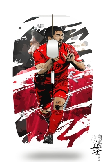 Slim Wireless Mouse Football Stars: Luis Suarez