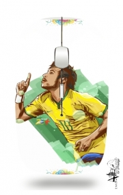 Slim Wireless Mouse Football Stars: Neymar Jr - Brasil