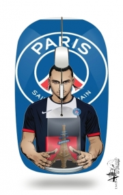 Slim Wireless Mouse Football Stars: Zlataneur Paris
