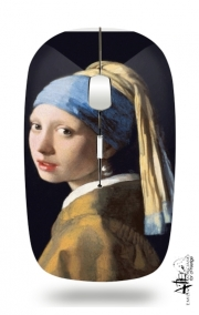 Slim Wireless Mouse Girl with a Pearl Earring