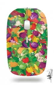 Slim Wireless Mouse Healthy Food: Fruits and Vegetables V3