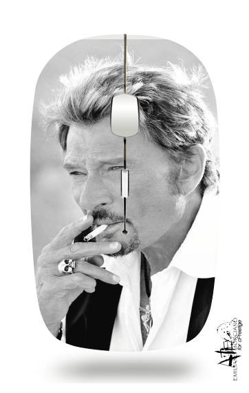 johnny hallyday Smoke Cigare Hommage for Wireless optical mouse with usb receiver