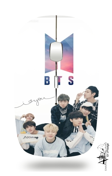 K-pop BTS Bangtan Boys for Wireless optical mouse with usb receiver