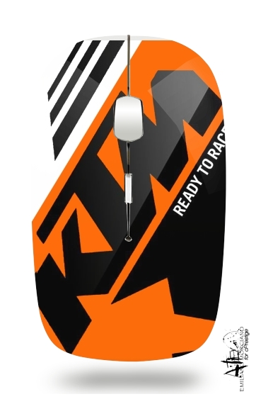 KTM Racing Orange And Black for Wireless optical mouse with usb receiver
