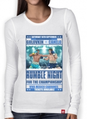 Women Long Sleeve T-shirt Canelo vs Golovkin 16 September