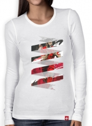 Women Long Sleeve T-shirt Football Stars: Luis Suarez