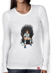 Women Long Sleeve T-shirt Game of Thrones: King Lionel Messi - House Catalunya