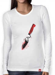 Women Long Sleeve T-shirt Hell-O-Ween Myers knife