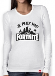 Women Long Sleeve T-shirt I cant i have Fortnite