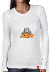 Women Long Sleeve T-shirt KTM Racing Orange And Black