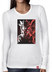 Women Long Sleeve T-shirt Kyubi x Naruto Angry