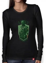 Women Long Sleeve T-shirt MGS Phantom Pain Army Men Big Boss Diamond Dogs