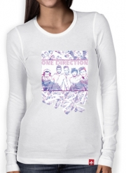 Women Long Sleeve T-shirt One Direction 1D Music Stars