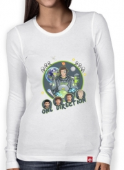 Women Long Sleeve T-shirt Outer Space Collection: One Direction 1D - Harry Styles