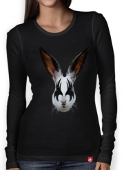 Women Long Sleeve T-shirt Kiss of a rabbit punk