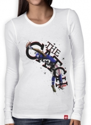 Women Long Sleeve T-shirt The Catch NY Giants