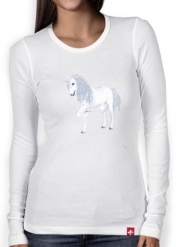 Women Long Sleeve T-shirt The White Unicorn