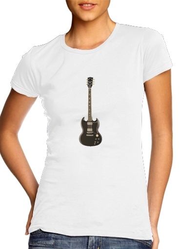 AcDc Guitare Gibson Angus dla Women's Classic T-Shirt