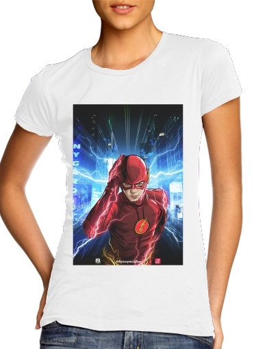 Women T-shirt short sleeve round neck  At the speed of light