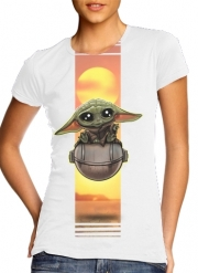 Women T-shirt short sleeve round neck  Baby Yoda