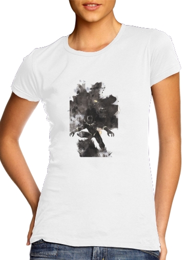 Women T-shirt short sleeve round neck  Black Panther Abstract Art Wakanda Forever