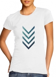Women T-shirt short sleeve round neck  Blue Arrow