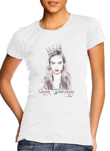 Cara Delevingne Queen Art für Damen T-Shirt