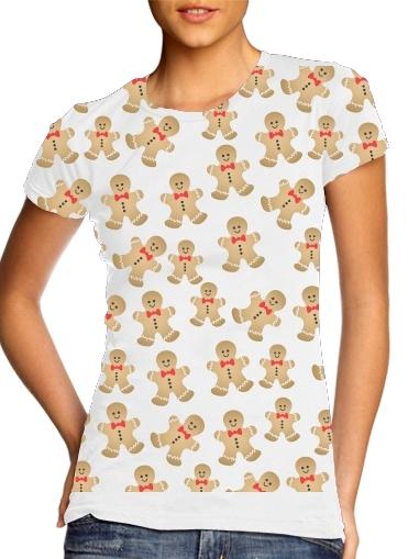 Christmas snowman gingerbread für Damen T-Shirt