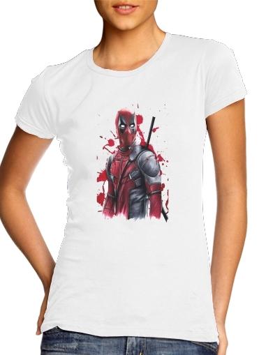 Deadpool Painting für Damen T-Shirt