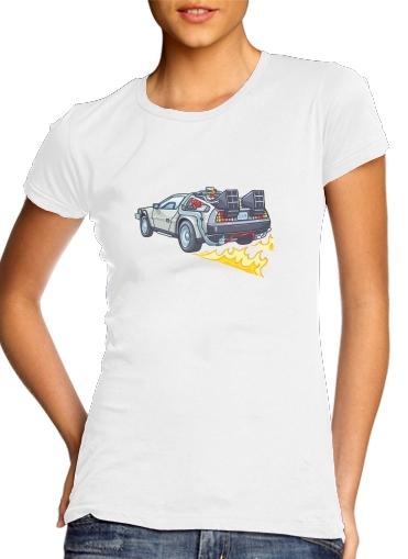 Delorean retour vers le futur für Damen T-Shirt
