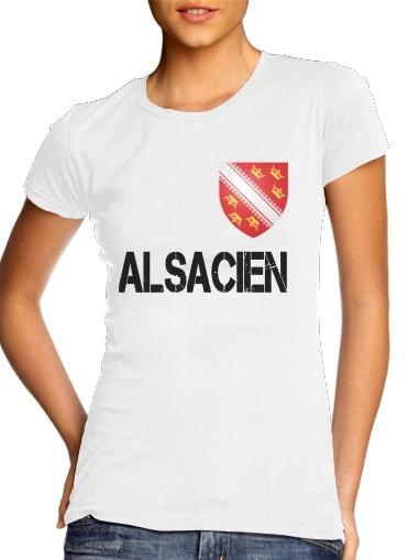 Drapeau alsacien Alsace Lorraine für Damen T-Shirt
