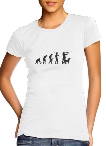 Evolution des Jägers für Damen T-Shirt