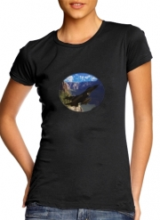 Women T-shirt short sleeve round neck  F-16 Fighting Falcon