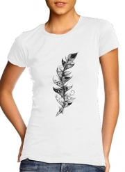 Women T-shirt short sleeve round neck  Feather