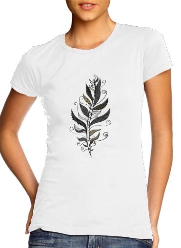 Feather minimalist für Damen T-Shirt