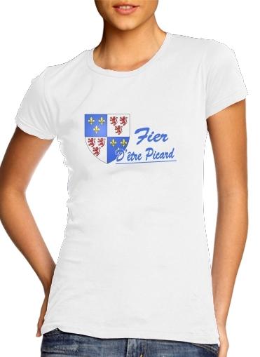 Fier detre picard ou picarde für Damen T-Shirt