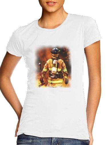 Feuerwehrmann Firefighter für Damen T-Shirt