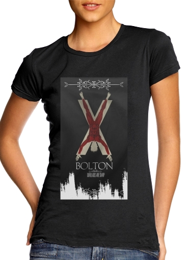 Flag House Bolton für Damen T-Shirt
