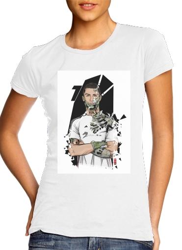 Football Legends: Cristiano Ronaldo - Real Madrid Robot für Damen T-Shirt